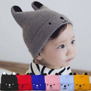 690c19e4 Baby Boy Girls Infant Toddler Warm Crochet Knit Spring Autumn Hat ...