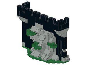 Lego-Bricksy-039-s-Castle-H13-Burgmauer-am-Felsen