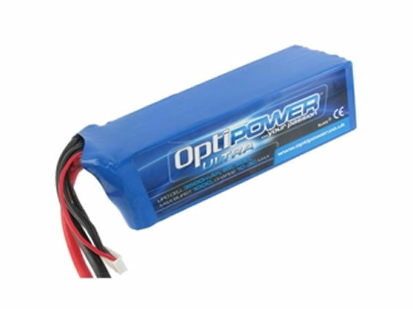 Optipower Ultra 50 C Lipo Batería 3500 mAh, 6S, 10AWG