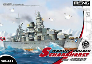 Meng Modèle Warship Constructeur Scharnhorst Dessin Animé Navire