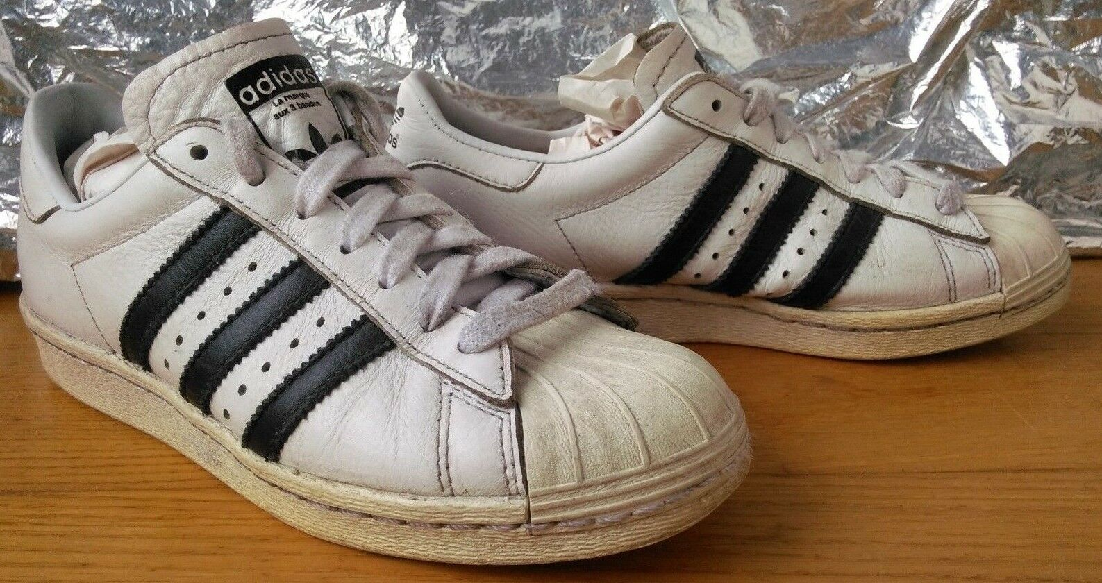finest selection 1eb00 830a7 Adidas Star Star Star Wars Shell Toe formadores 3 Stripes Cuero Retro  Vintage moda Reino Unido