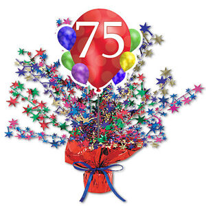 Image Is Loading 75th Birthday Age 75 Party Supplies BALLOON BLAST
