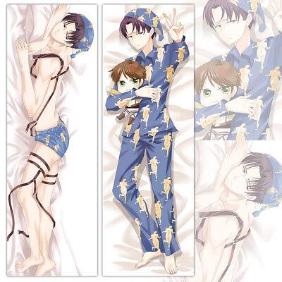 "Hot Anime Attack on Titan Levi·Ackerman Pillow Case Cover Dakimakura Unisex 39/"""