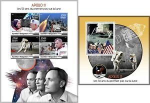 APOLLO-11-50TH-ANNIVERSARY-SPACE-NASA-MOON-LANDING-NEIL-ARMSTRONG-MNH-STAMPS-SET