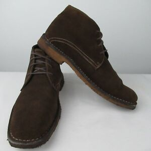 Johnston-amp-Murphy-9-M-Copeland-Chukka-Brown-Suede-Boots-Dessert