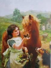 Girl with Pony and Dog by Zula Kenyon art print