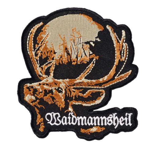 Aufnäher Aufbügler Waidmannsheil jäger jagd weidmanns heil jägerweste jacke