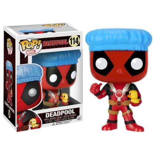 Funko Pop Marvel Deadpool Douche Casquette /& Canard Exclusif Vinyle Figurine