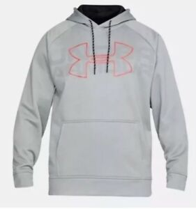 19048d94 Details about NWT$55 Under Armour Mens Storm Fleece Graphic Hoodie  1313503-025 Gray Small