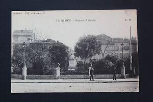 Tarjeta-Postal-Antigua-CPA-Postal-Nimes-Plaza-De-Antonino