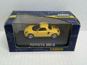 Ebbro-Trendies-Toyota-MR-S-Yellow-Japan-1-43