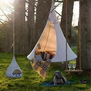 UFO forma árbol Colgante Columpio Silla Hamaca Muebles interior al aire libre de verano