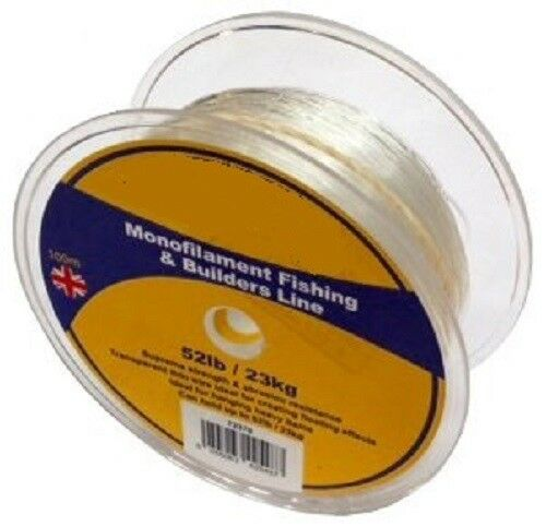 Nylon Beading Wire Thread Cord Clear 100M Fishing Line Hanging Non Stretch