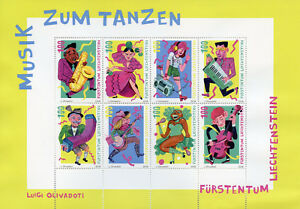 Liechtenstein-2018-MNH-Music-for-Dancing-8v-M-S-Dance-Musical-Instruments-Stamps