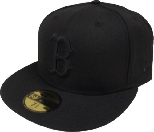 New Era MLB Boston Red Sox Black on Black 59fifty Fitted Cap Limited Edition New