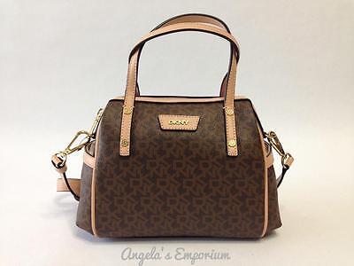 DKNY Donna Karan Handbag Mini Duffle Crossbody Bag Brown-Natural