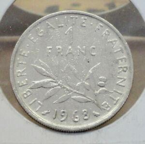 1968-1-Franc-France-Nickel-6-0-g-24-mm-Ungraded