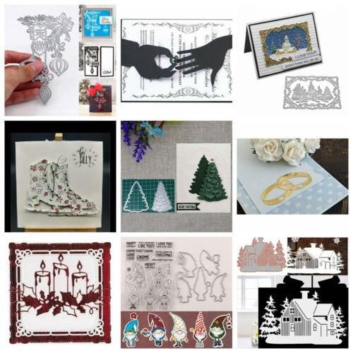 Cutting dies Haus Baum Santa Craft Karten DIY ER Weihnachten STANZSCHABLONE