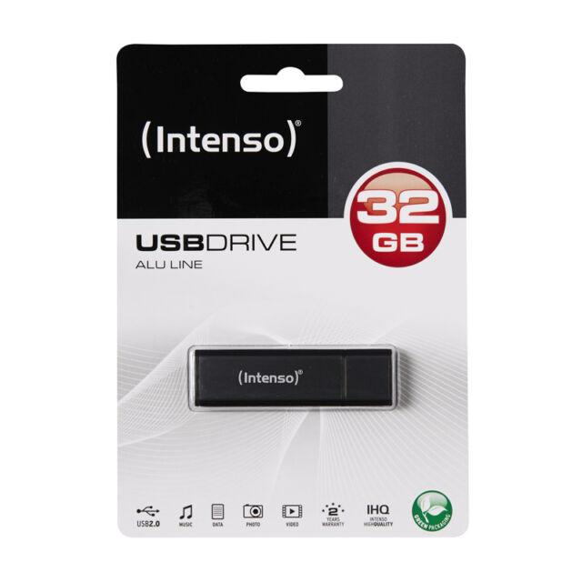 MAGNIFIQUE CLE USB HAUT DE GAMME NOIR / GRIS ANTHRACITE 32go Intenso noire grise