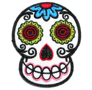 ecusson patch t te de mort mexicaine calavera tattoo tatouage day of the dead ebay. Black Bedroom Furniture Sets. Home Design Ideas