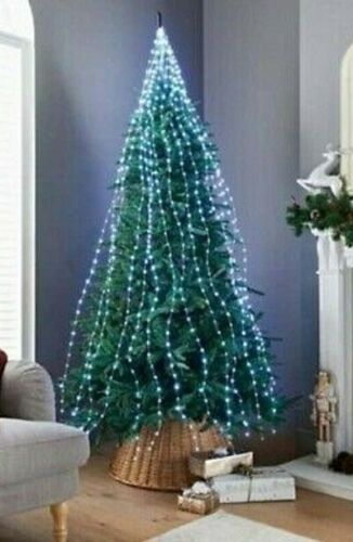672 Sparkle LED Cascading Micro Tree Light 5M Clear Cable Christmas Decoration