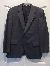 Men's Hart Schaffner & Marx Silver Trumpet gray virgin wool two button blazer