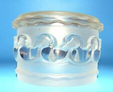 LALIQUE FRANCE CANARDES Art Glass SIGNED Swan DUCK POWDER BOX JAR