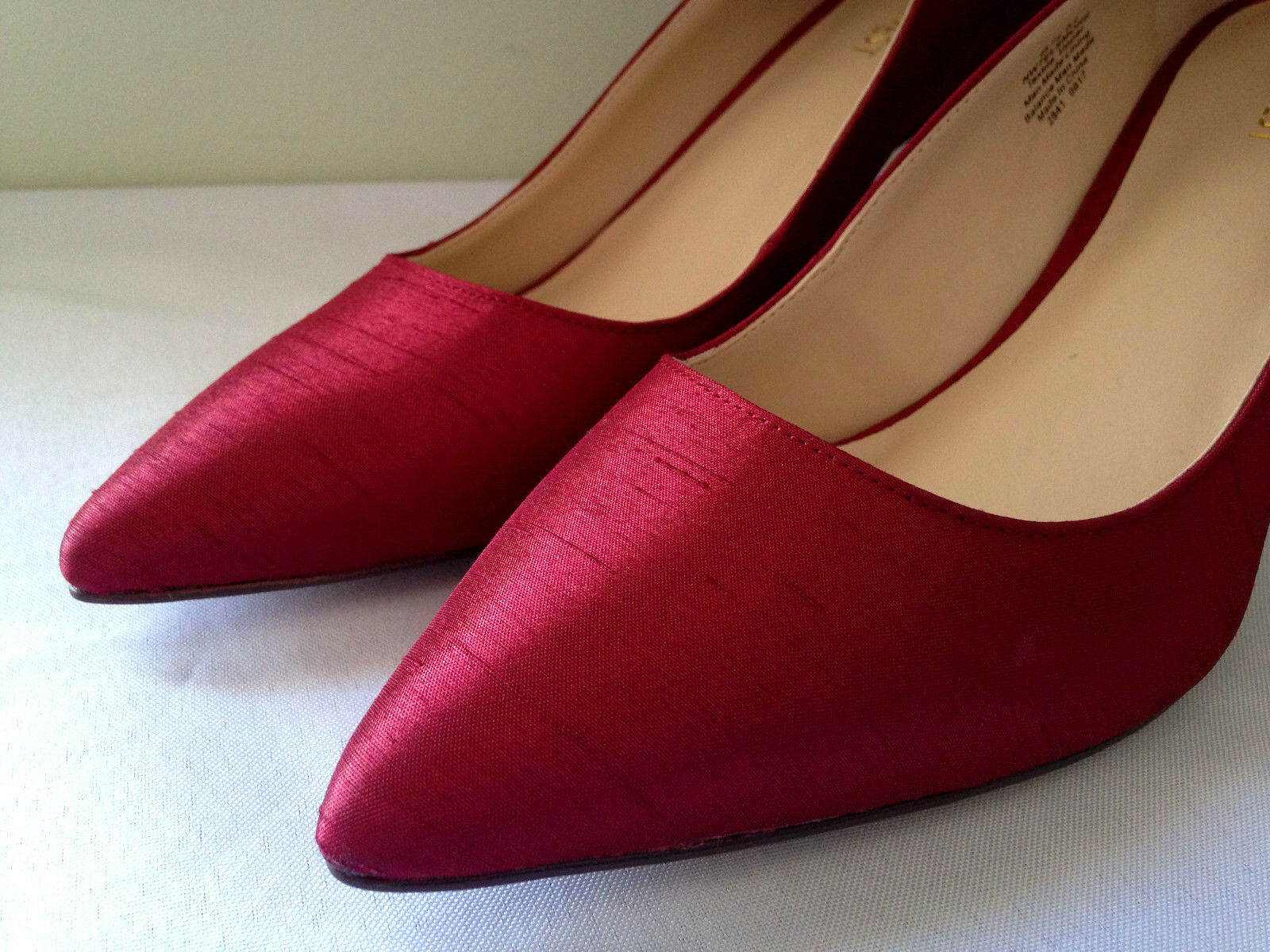 NEW Nine West Sexy Red Shantung Elsmore Gorgeous Pumps Sexy Heels 9 M  128