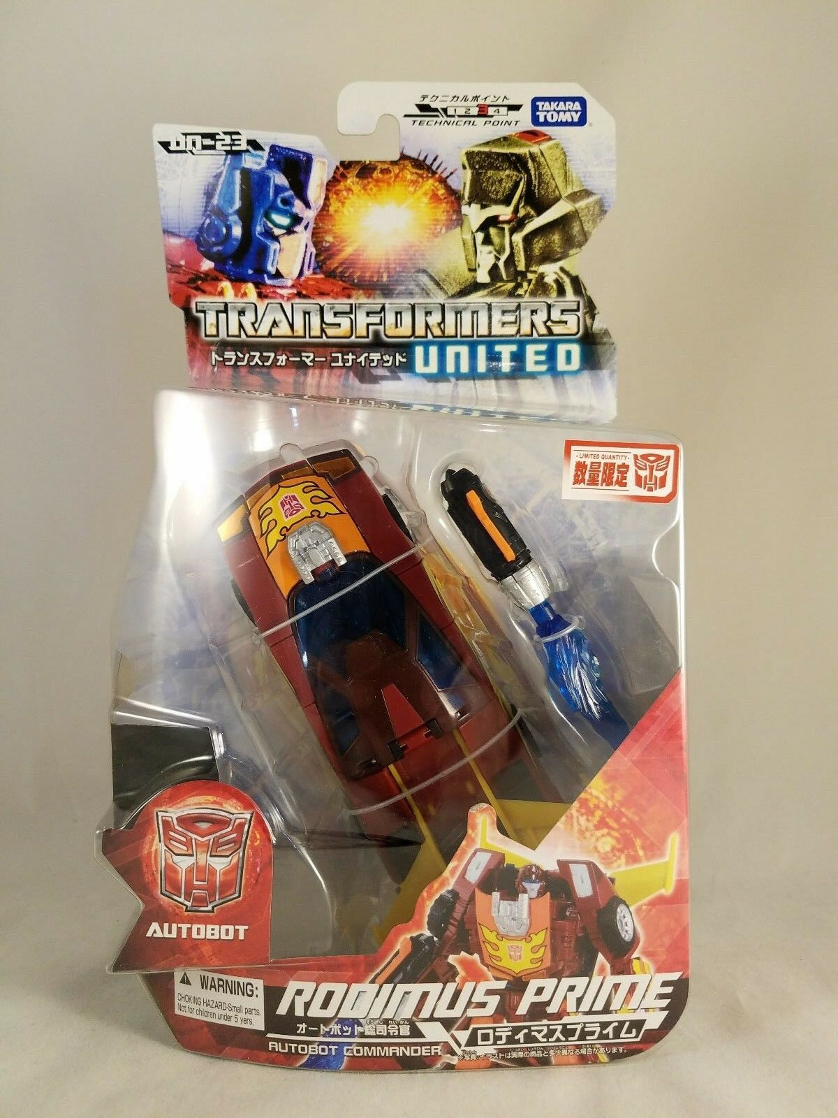Transformers United Henkei Legends Generations UN-23 Rodimus Convoy Prime MOSC