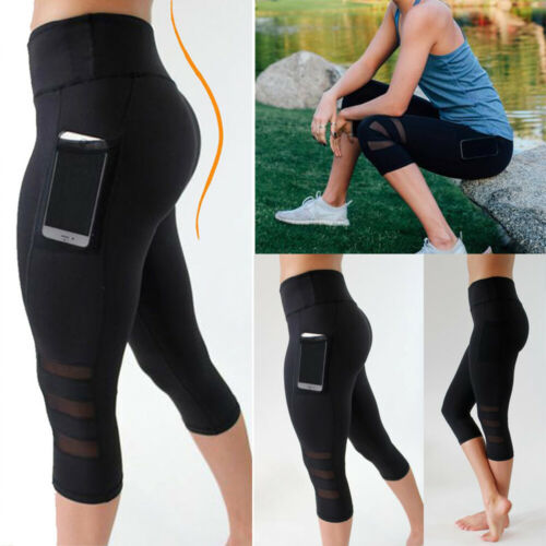 Women Yoga Gym Crop High Waist Legging Fitness Running Sport Stretch Leggings