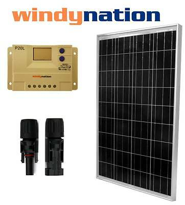 100 W Watt 100W Solar Panel and LCD Solar Charge Controller 12V RV Boat Off Grid