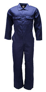 WWK-Boilersuit-Overall-Coverall-Mens-Kids-Navy-or-Royal-mechanic-college-work