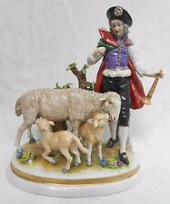 Rudolstatd Volkstedt Figure German Continental Porcelain Boy Sheep Height 19cm