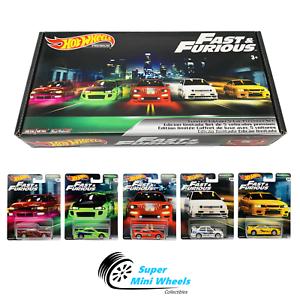 Hot-Wheels-Premium-2019-Fast-amp-Furious-Original-Fast-B-Case-Box-Set-of-5-Cars