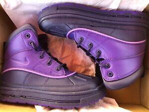 fama luz de sol excusa  Nuevo Zapatos tenis Nike Woodside Niños Bota púrpura Girl 3 jóvenes   eBay