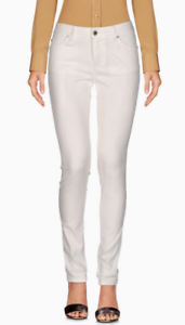 ERMANNO SCERVINO Mid Rise Skinny Jeans White 2 US 38 IT NWT