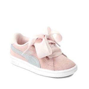 Scarpe-Puma-Smash-V2-Ribbon-AC-ps-366004-02-Bambina-Sneakers-Sport-rosa-Nuovo
