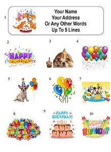 30 happy birthday personalized address labels ebay