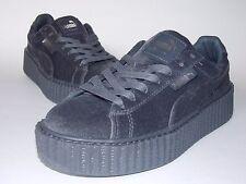 Rihanna Puma FENTY Creeper ~ Glacier Grey ~ Velvet Platform Sneaker ~ Size 7