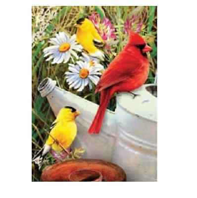 A5 SIZE GARDEN BIRDS & FLOWERS PAINTING ACRYLIC PAINT BY NUMBERS KIT PBNMIN-114