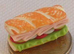 1:12 Scale 5 Cheese /& Ham Rolls Tumdee Dolls House Kitchen Bread Snack Accessory