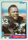 1981 Topps Kenny King #329 Football Card