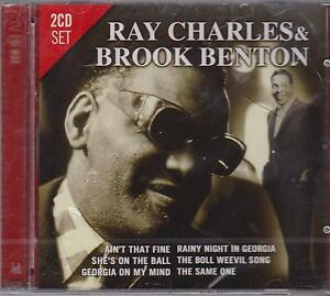 RAY-CHARLES-amp-BROOK-BENTON-on-2-CD-039-s-NEW
