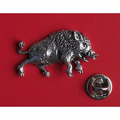 3 Pewter Lapel Pin Badge XTSPBA68 Wild Boar