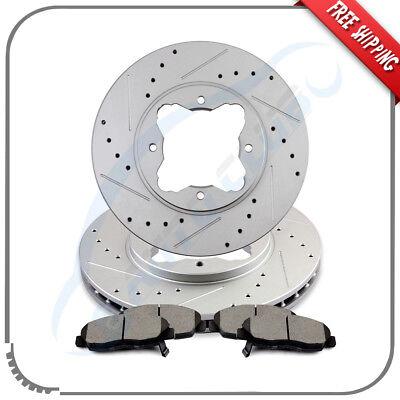 Saturn Ion 03-07 Drill Slot Brake Disc Rotors FRONT