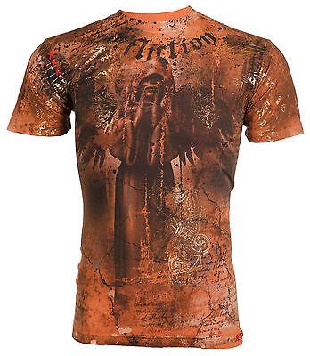 AFFLICTION Mens T-Shirt FLOATING BAMBOO Tattoo Fight Biker Gym MMA UFC M-4XL $66