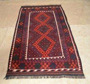 6-039-6-x-3-039-4-Antique-Handmade-Afghan-Kilim-Wool-Area-Rug-Tribal-Kelim-Carpet-5017