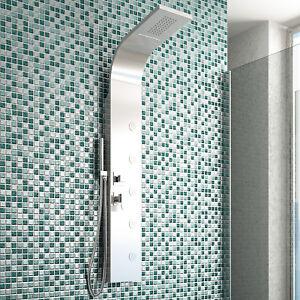 Nuovo pannello doccia acciaio inox design bagno moderno soffione e idromassaggio ebay - Doccia design moderno ...