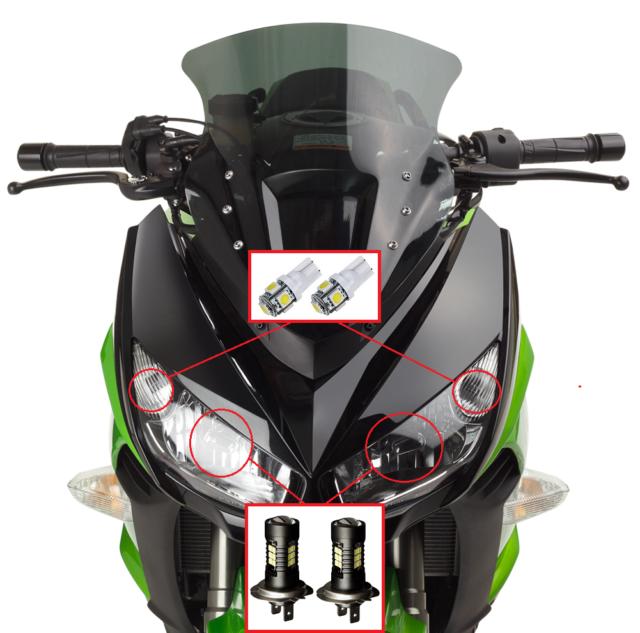 Kawasaki Z1000SX Z1000 Ninja 1000 SX 1000SX 2010-2018 Ninja 1000 Fender Eliminator Tail Tidy