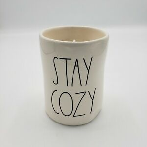 Rae-Dunn-Ivory-STAY-COZY-Candle-8-7-oz-Warm-Cashmere-DW-Home-Magenta-LL